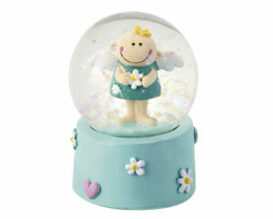 Mila Engel Schneekugel Schutzengel Junge - Traumkugel Himmelsbote