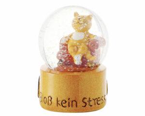 Mila Schneekugel Katze Medidation - Schüttelkugel Bloß kein Stress