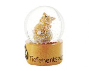Mila Schneekugel Yoga Katze - Oommh - Tiefenentspannung - Schüttelkugel Kater Garfield