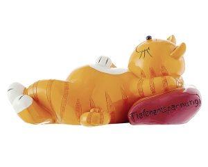 Mila Oommh - Yoga Katze - grosse liegende Figur aus Resin - Tiefenentspannung