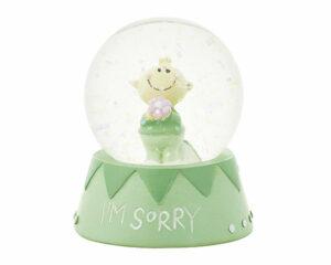 Mila Traumkugel Sorry - Mr. Smile Schneekugel in Geschenkverpackung