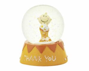 Mila Traumkugel Thank You - Mr. Smile Schneekugel Dankeschön in Geschenkverpackung