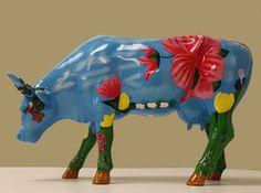 Miss Azalea - CowParade original - small Cows - Mini Sammlerkuh mit Blumen - Rarität