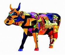CowParade small Picowso's Moosicians Mini Kuh Three Musicians by Pablo Picasso