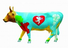 CowParade small Moocho Amor Mini Kuh Liebesbote Amor - Rarität