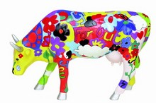 CowParade small Groovy Moo - Far Out - bunte, fetzige Super Mini Kuh 46330