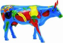 "CowParade small ""Wholly Cow"" - Früchte Kuh"
