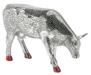 CowParade Mira Moo Silber Mosaik Kuh