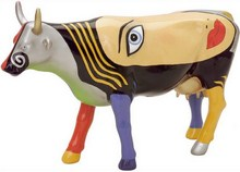 "Cowparade small ""Chealsea"" Mini-Kuh - Rarität - Michael Perez"