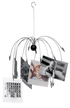 Memo- Foto- und Kartenhalter Mobile Fontäne - 16 Drahtarme mit Clips