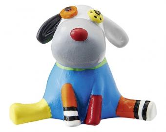 Mila Hund Dekofigur - Crazy Dog - Sammlerfigur Setzkasten