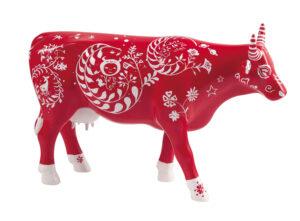 CowParade Large Moo Moo Hua Hua - große rote Künstler Kuh