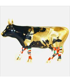 CowParade The Bullish Cow - Landkarten Kuh mini