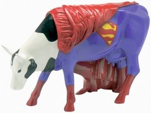 CowParade small Super Cow Mini Kuh - Superman