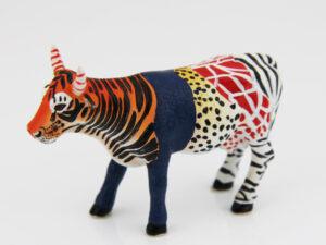 CowParade small Moo Zoo Tier-Hybrid Mini Kuh, Mix aus Leopard, Tiger, Giraffe, Löwe, ... - Rarität