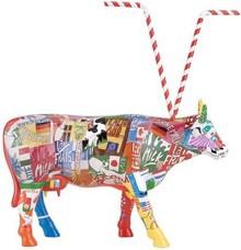 CowParade small Baby Shake Mini Kuh mit Strohhalm - Rarität