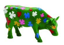 CowParade small Dreaming Clovers cow - Kuh mit Glückskleeblättern