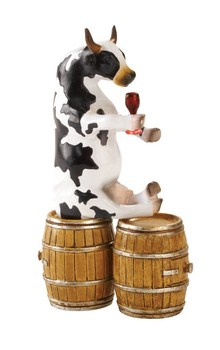 CowParade small Enjoying a Tipple