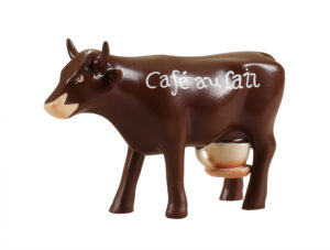 CowParade Café au Lait - small - Mini Michkaffee Kuh