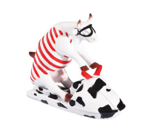 Jet Ski Cow - CowParade original small Cow - Mini Sammlerkuh