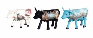 Cowparade Collectables Artpack Italia - 3 x small Cowparade - Sondergröße