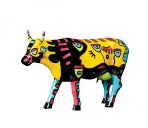 Large CowParade Hong Kong Celebration - große Künstler Kuh