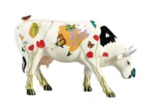 Large CowParade Ramona - große Kunst Kuh aus Rom