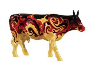 Large CowParade Fogo Cerrado - große Feuer Kuh