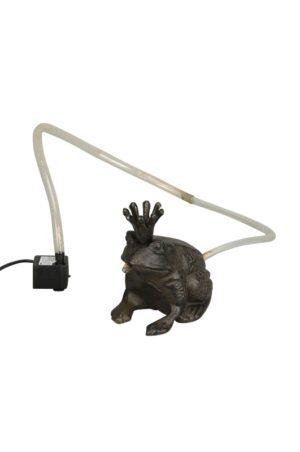 Frosch Wasserspeier Froschkönig - Teichfigur Gusseisen