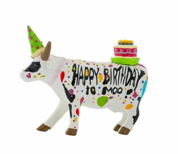 CowParade Happy Birthday to Moo ! Geburtstags Kuh mit Torte