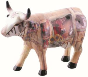 The Barn Cow - mittlere Kuh / CowParade medium Keramik Kuh Schlachter - Fleischer - Metzger