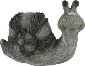 Keramik Schnecke - Deko Stein Look Tierfigur - Gartendekoration - Gartenskulptur in Steinoptik