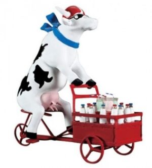 Milchkuh Cowparde Lait Triporteur Milchlieferant - Molkerei Kuh auf Lastenfahrrad zum Milchtransport