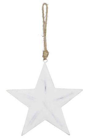 Vintage Metall Stern zum hängen - Fünfzackiger Metallstern - Dekoration für Innen und Außen