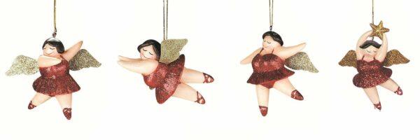 Engel Betty Hänger - Baumschmuck Ballerina - Glitter Engel