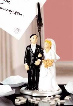 Fotoclip Hochzeitspaar Kartenhalter