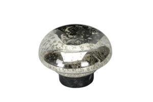 Schwimmlinsen Glas, silber glanz, 10cm - Teichdeko - Springbrunnen Zubehör