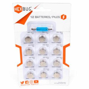 AG13/LR44 Knopfzelle für Hexbug - 12 Pack Ersatzbatterien für Robotertierchen inkl. Schraubendreher