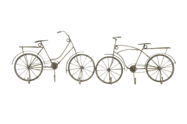 Metall Garderobe Fahrrad - Damenrad -Herrenrad - Hakenleiste Schlüssel Wanddeko