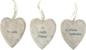 Herz zum Hängen, Grab- oder Trauerschmuck, Schiefer