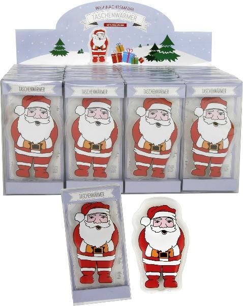 Taschenwärmer Weihnachtsmann - Handwärmer Taschenheizkissen Santa