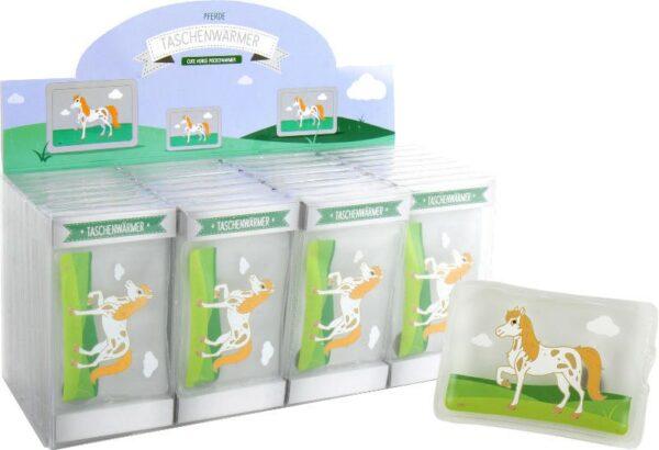 Taschenwärmer Pferd - Handwärmer Taschenheizkissen Schecke auf der Wiese