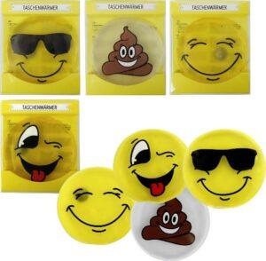 Emoji Taschenwärmer Smile Gesicht - lustige Handwärmer Taschenheizkissen