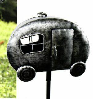 Gartenstecker Teelichthalter Camper - Wohnwagen mit Teelichthalter, Metall