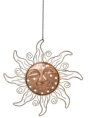 Metall Sonne zum hängen, 30 cm aus Metall