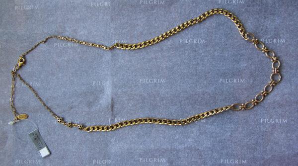 514903 Pilgrim verspielte Charmskette gold mit Verlängerungskettchen - Charmskette Kette für Anhänger
