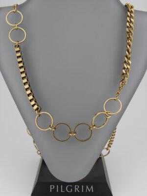 lange asymmetrische Kette gold ohne Verschluss