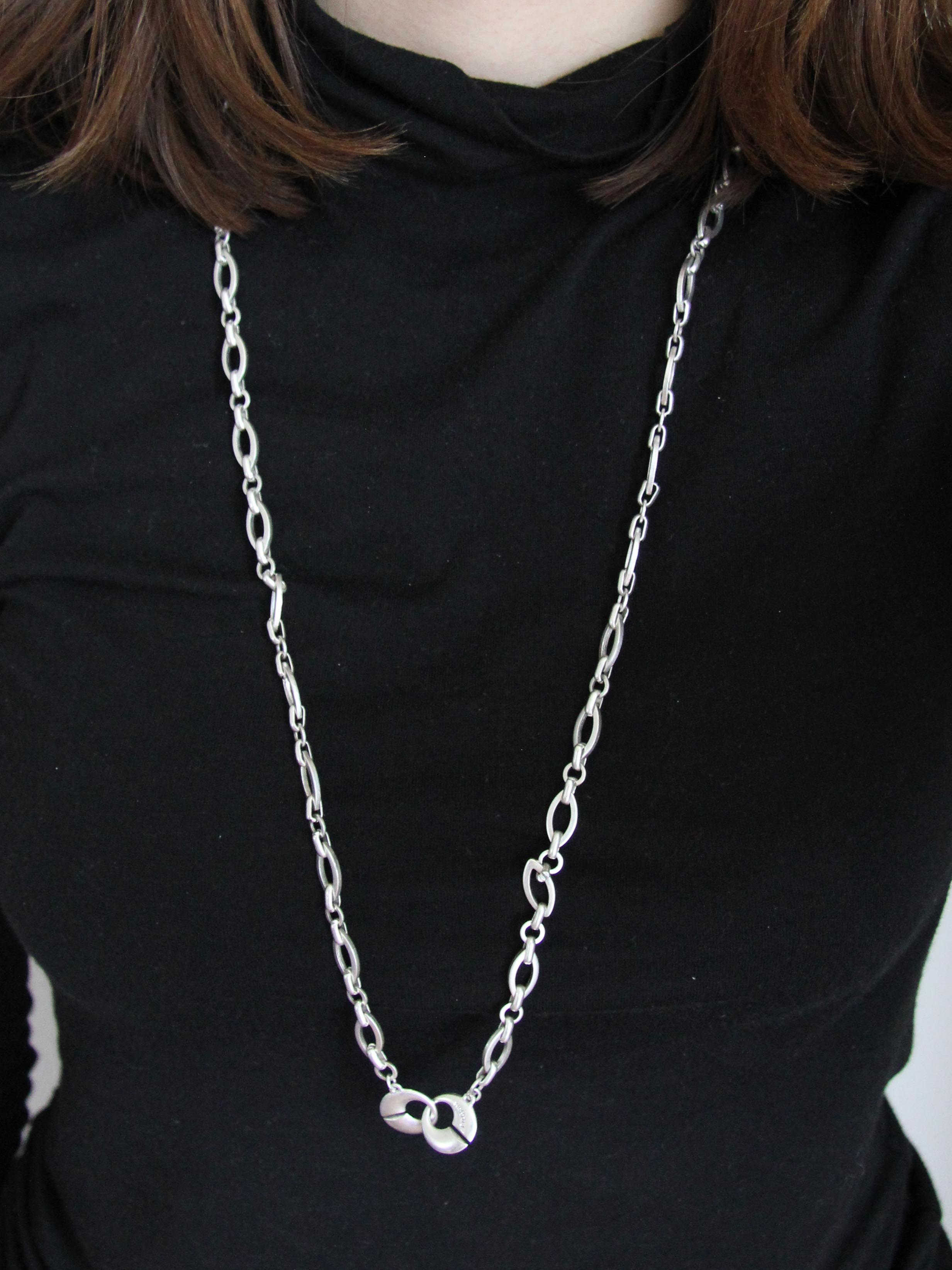 pilgrim lange kette mit steckverschluss silber charms. Black Bedroom Furniture Sets. Home Design Ideas