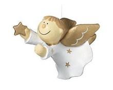 Dekofigur Mila Engel Julius fliegend - Schutzengel zum hängen