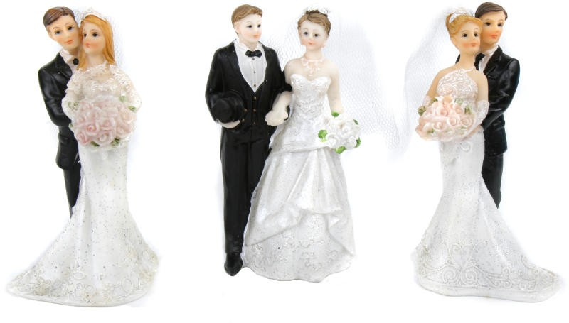 Hochzeitstortenfigur Brautpaar Stehend Hochzeitpaar Als